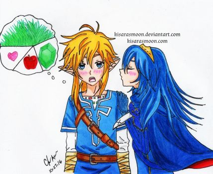 Inktober Day 26: What's really on Link's mind by Kisarasmoon
