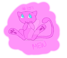 Mew Doodle by yellowy-yellow