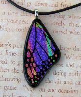 Magenta Rainbow Glass Wing by FusedElegance