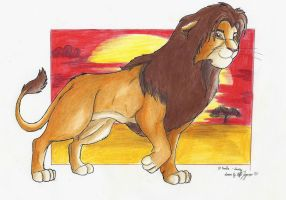 Simba the Lion King by StarlightsMarti