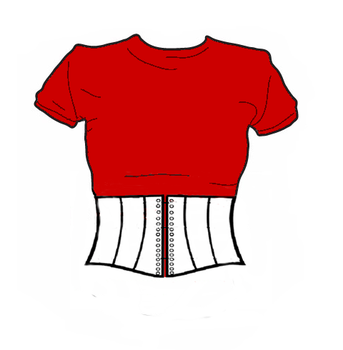 Corset tee shirt by Lady-Aerius