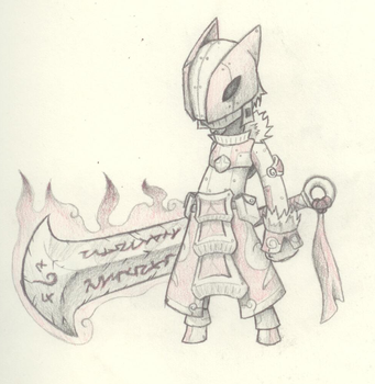 A Knight of Fire by iyro