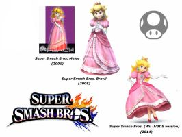 Princess Peach (Super Smash Bros. evolution) by delvallejoel