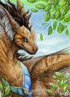 ACEO Leaves by Lunakia