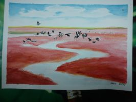 Red land by Trucina