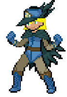 Me in a Sir Aron Costume Sprite by senordunut