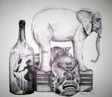 Still Life in Ball point by KatyCrayon