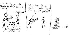 Guitar Hero Comic by thelonesoldier