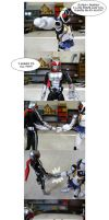 Super-1 and Fourze Friendship Hand Shake by RiderB0y