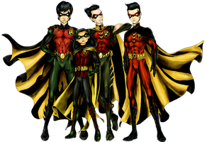 New 52 Robins by batcheeks