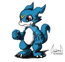 veemon by soul-silver-dragon