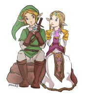 Link and Zelda by yolin