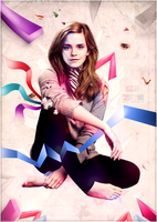 Emma Watson surreal art by RafaelGiovannini