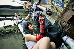 Tifa and Cloud by ilaBarattolo