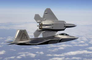 Air Force F22 Raptors by pilotroom