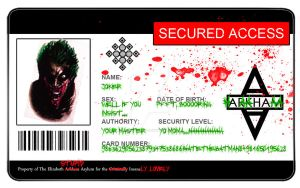 Arkham Asylum ID Card - Joker by VortexVisuals