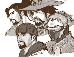 McHanzo and Reaper76 by Aralsie