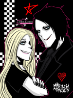 Avril Lavigne And Marilyn Manson by mikaeriksenweiseth