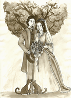 Wedding Pic painting by SirLadySketch