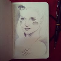 Dianna Agron's portrait attempt by LadyOrlandoArt