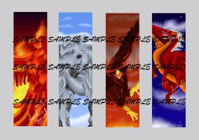 Flying Fantasy Bookmark Set by Mean-cat