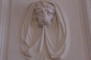 Lion on wall by creatief2