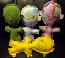 4 lollipop heads by wiccanwitchiepoo