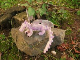 Needle felted dragon -Lucille by fairyspit-dolls