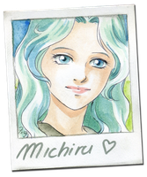 Michiru polaroid by junfender