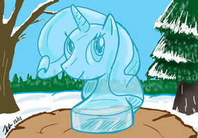 MLPFIM: Rarity Ice Sculpture Collab by the-gneech