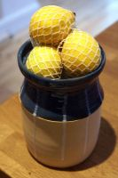 Ceramic pottery canister by scarlet1800