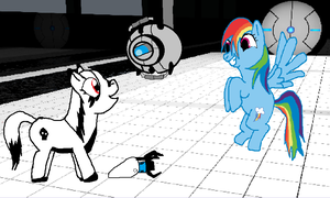 Portal Pony entry by wolfmad123