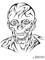 Tribal Zombie - Commission (Updated) by blackbutterfly006