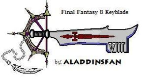 Final Fantasy 8 Keyblade by AladdinsFan