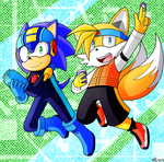 Sonic X Rockman.EXE [CROSSOVER] by KthTheArtist