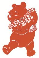 Winnie The Pooh papercut by usagisailormoon20