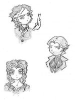 Sweeney Todd Chibis by amiry