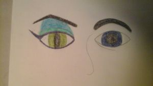 Malec Eyes by TheFangirlDoodles