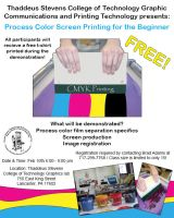 Screen Printing Seminar Flyer by fartoolate