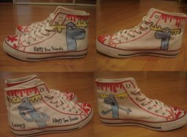 My shoes with lumpy on em by CarnageWolff