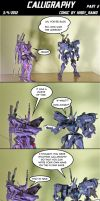 Gunpla comics: Calligraphy part 2 by HiroyRaind