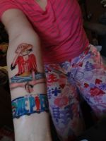 My One piece luffy time skip tattoo by koyico-RoX