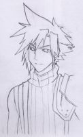 Cloud Strife Sketch 2 by Shinigamichick39
