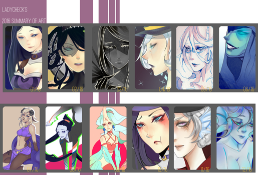 LadyCheck's 2016 Summary of Art by LadyCheck