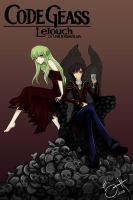 c.c and Lelouch by ZeroRaver
