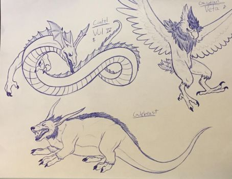Dragon Quest Monsters sketch dump #3 by Iron-Zing