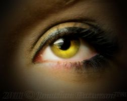 Ambers Eye Indoors by The-Twitchblade