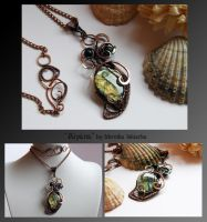 Aiyana- wire wrapped copper necklace by mea00