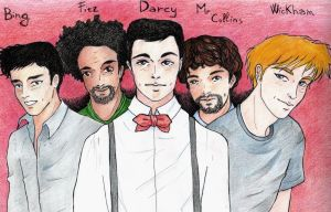 Lizzie Bennet Diaries- The boys by ombradellaluna