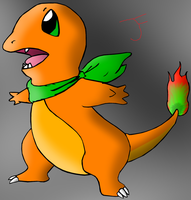 Scarfy Charmander by Someguyfromcrowd
